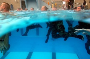 Aqua fitness exercises