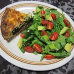 Super Healthy Spinach Pie with a Brown Basmati Rice Crust