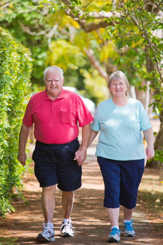 seniors walking for exercise