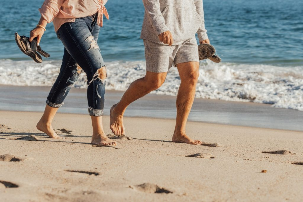 sand walking for exercise
